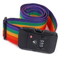 D DOLITY TSA Rainbow Password Travel Luggage Case Secure Lock Safe Packing Belt Strap