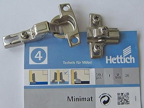 Topfscharnier Minimat 4 für Mittelwandanschlag, 95°, ø 26 mm, Kröpfung 8 mm, 1 Stück, 746