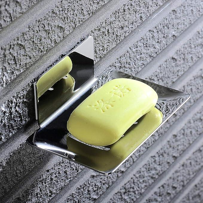 ZITFRI Seifenhalter ohne Bohren Edelstahl selbstklebend Wand Montage 3M Klebepad Seifenablage f/ür Badezimmer K/üche Balkon Seifenkorb Seifenschale Wandmontage f/ür Schw/ämme B/ürsten Seife