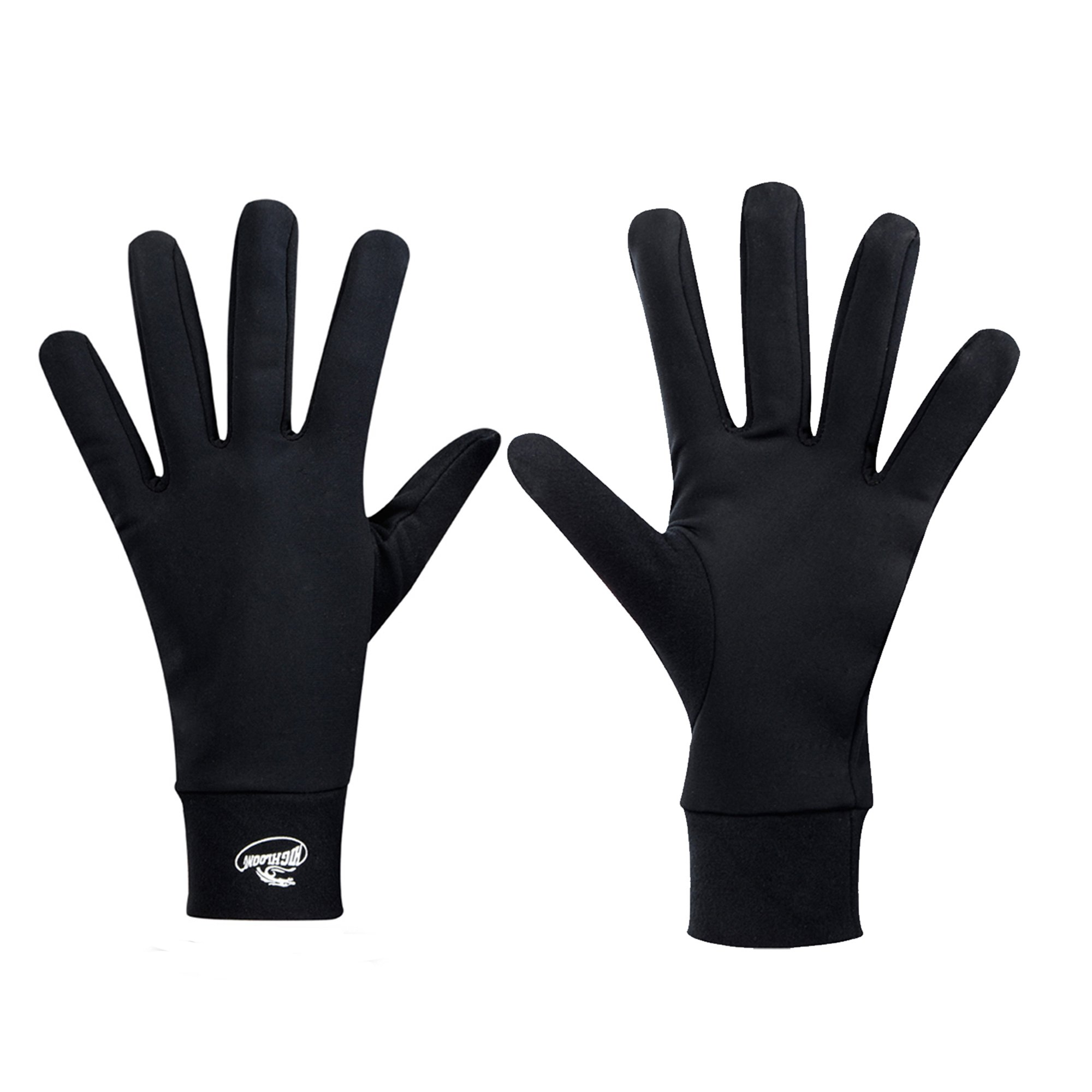 Compression Lightweight Sport Running Gloves Liner Gloves- Black - Men & Women(L)