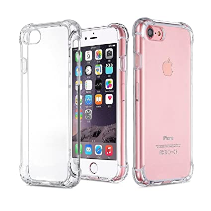 best cheap 6fccd 08a93 iPhone 7 Case, iPhone 8 Case, TUPREX iPhone 8/7 Crystal Clear Shock  Absorption Technology Bumper Soft TPU Cover Case Protector for iPhone 7 /  iPhone 8 ...
