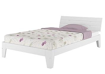 Einzelbett Mit Rollrost 120x200 Massivholz Kiefer Bettgestell Futon Bett Holzbett Weiß 6054 12 W