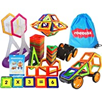 """Magnetic Blocks Educational Building Set and Magnetic STEM toy Shapes """"GIFT BOX"""" (100PCS) Magnet Toys For Boys And Girls Construction Kit For kids Creative Learning Tiles Children Birthday Gift, Montessori toys"""