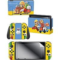 Controller Gear Nintendo Switch Skin & Screen Protector Set - Super Mario Maker 2 - The Builder - Nintendo Switch