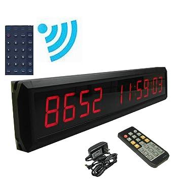 "ganxin app-control 1,8 ""alta 10 dígitos LED días reloj de"