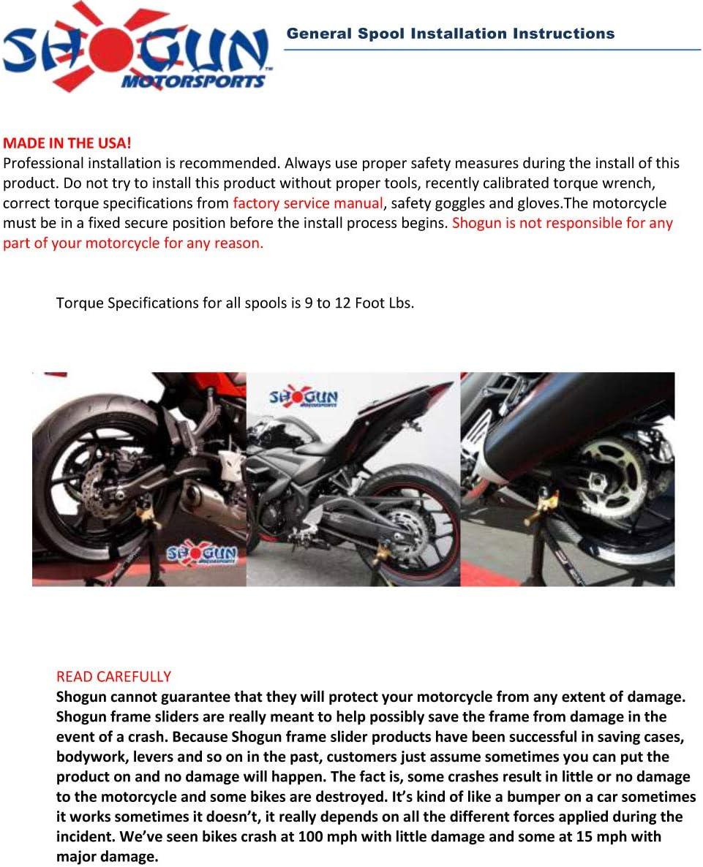 Sliders -701-0370 White 2017-2019 Suzuki SV650 Swingarm Spools MADE IN THE USA