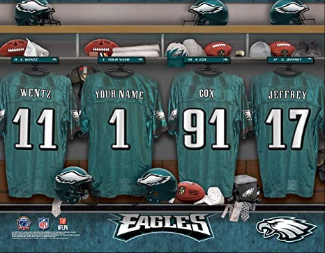 quality design f3253 e087a Amazon.com : Personalized Philadelphia Eagles Wall Poster ...