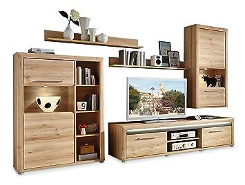 Meuble de salon en bois de hêtre clair randy: Amazon.fr ...