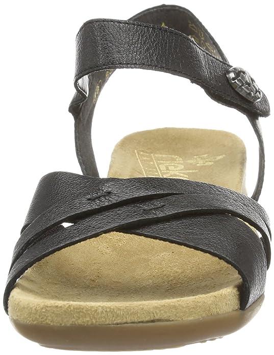 Rieker 60553, Damen Sandalen, Schwarz (schwarz00), 40 EU