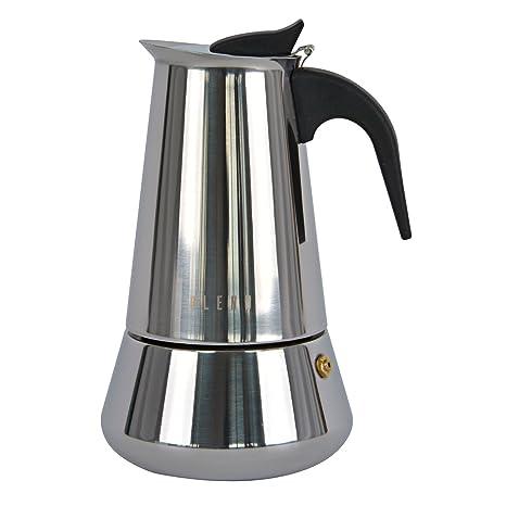 Ideal casa Cafetera 6 Tazas Acero Inoxidable con Fondo inducción. Blend