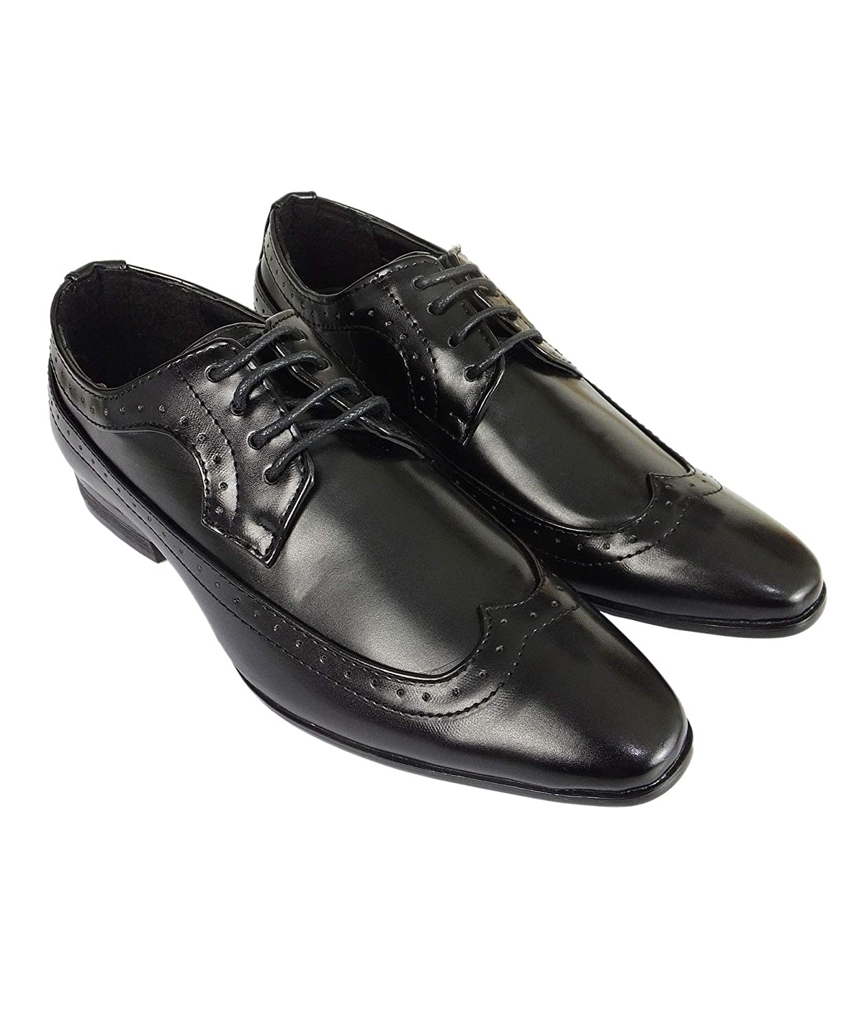 Romano Vianni Lace up Formal Brogue Leather Shoes for Boys