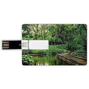 8GB Forma de tarjeta de crédito de unidades flash USB Selva ...