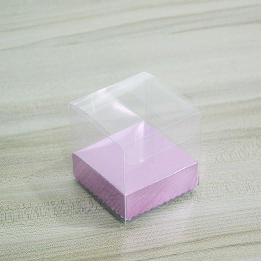 HangQi 50 x transparente PVC plástico cubo caja de embalaje de ...