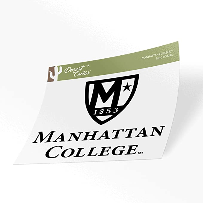 Manhattan College NCAA Name Logo Vinyl Decal Laptop Water Bottle Car Scrapbook 8 Inch Sticker