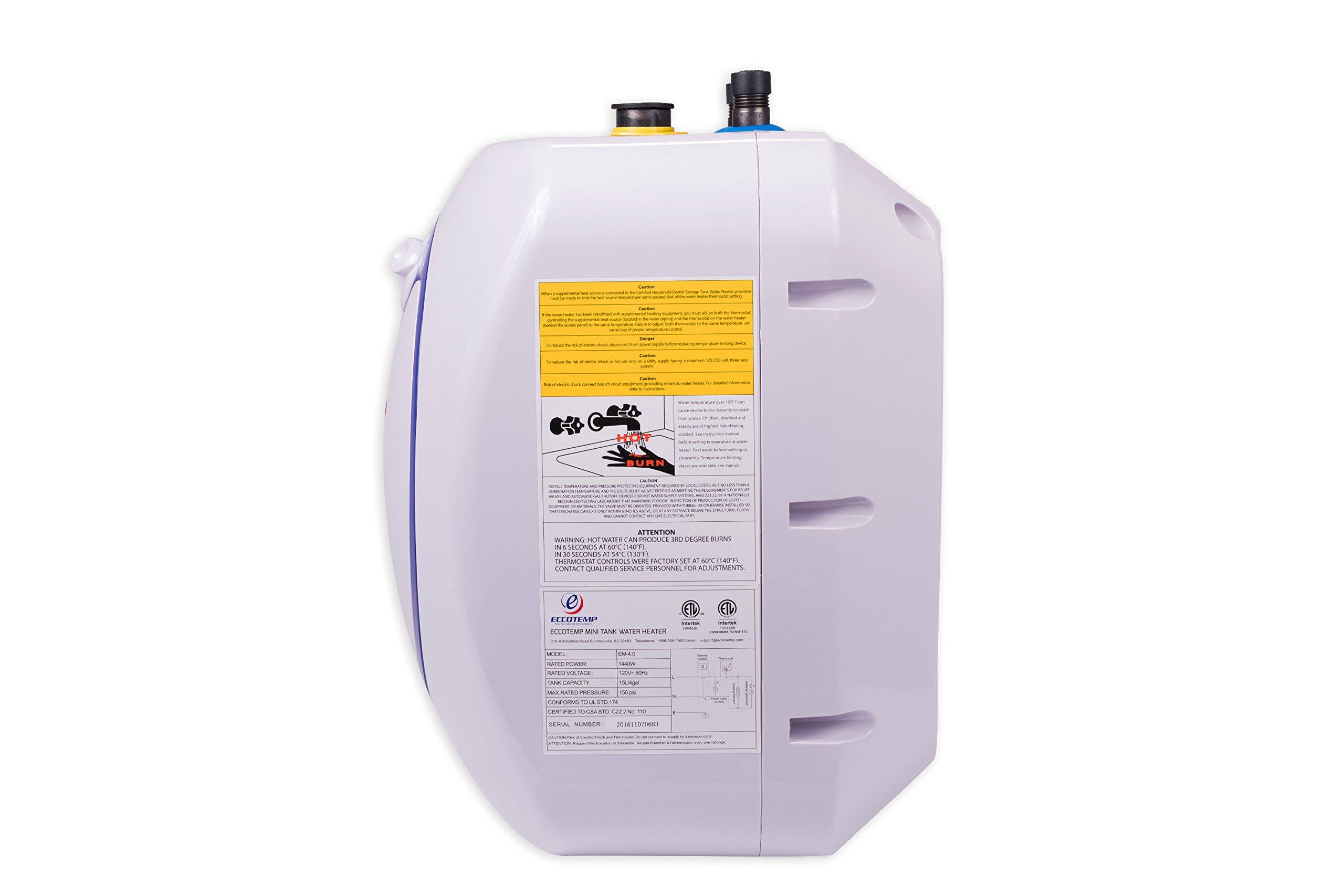 Eccotemp EM-4.0 Electric 4.0-Gallon Mini Tank Water Heater by Eccotemp (Image #2)