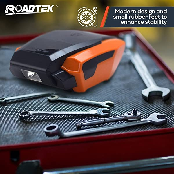 RoadTek RTK-WARP is one of the best small portable air compressor