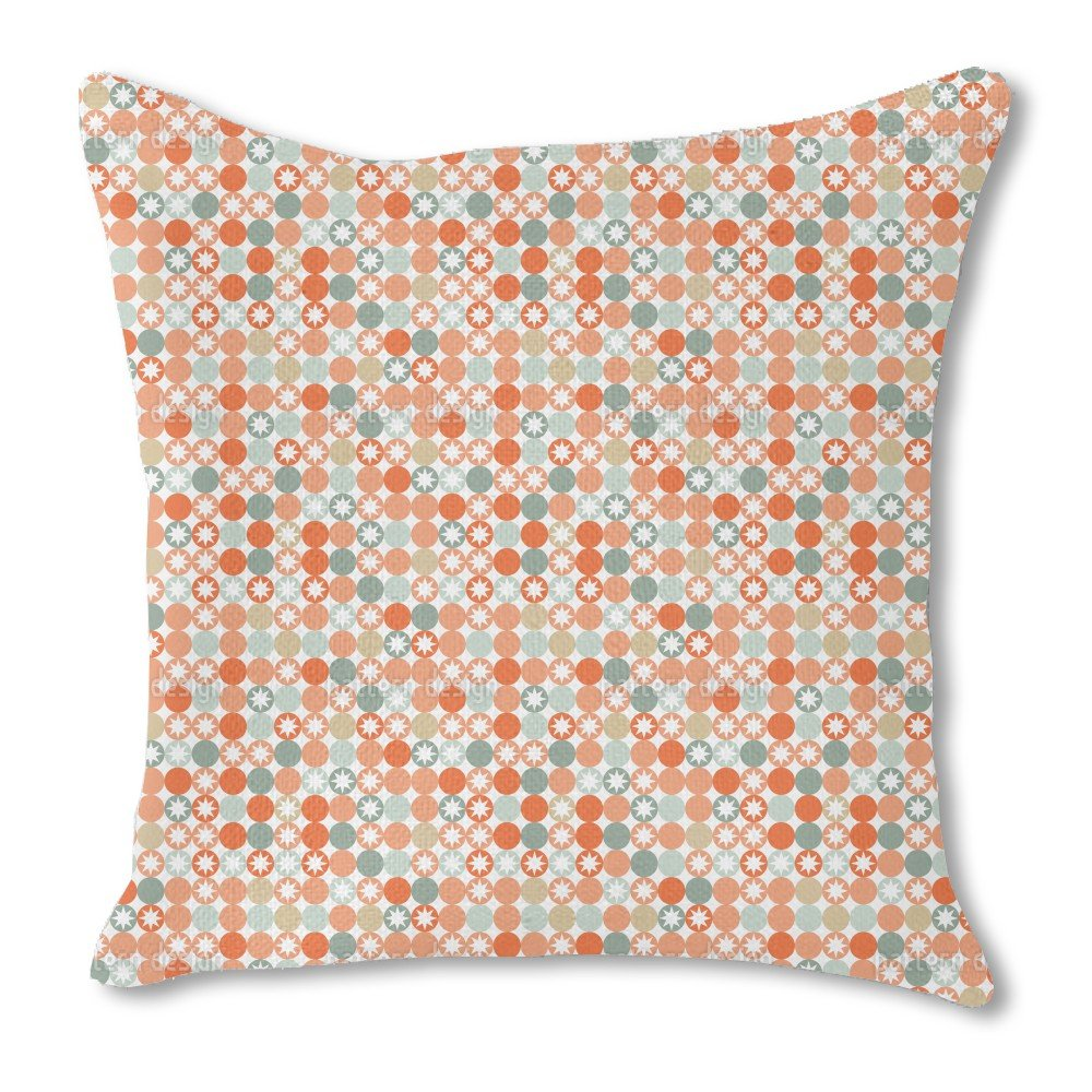 Autumnal Star Bingo 18X18 Burlap Pillow 2-Sided Custom Printed by uneekee
