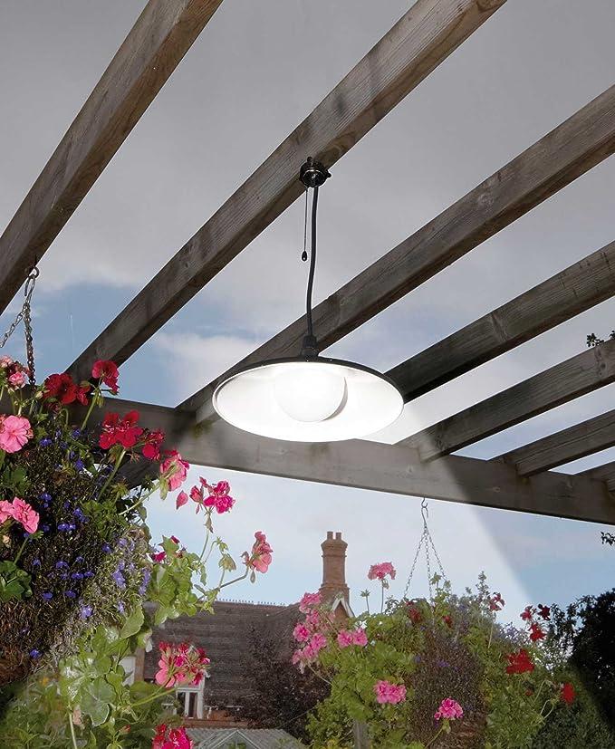 Solar lámpara de techo colgante para Cobertizos garajes pérgolas Control Remoto brillante iluminación LED: Amazon.es: Iluminación