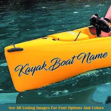 Kayak custom boat name decal custom made kayak decal your boat name sticker