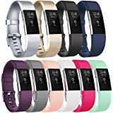 Vancle Replacement Bands for Fitbit Charge 2, 10 Pack