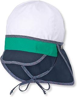 Sterntaler Schirmmütze für Jungen mit Bindebändern und Nackenschutz, Blau (Marine)