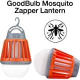 GoodBulb Mosquito Zapper - Bug Zapper Light - Waterproof Lantern - Camping Accessories - 1 Watt LED Bulb - 2000mAh USB Lantern - Retractable Hook (Orange)