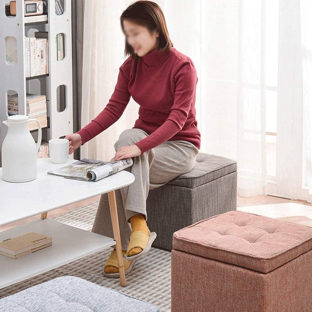 Xiao Long Lagerung Hocker, einfache Haushalts-Speicher Hocker kann mit Schuh Hocker Innenraum Hocker Niedriger Hocker ersetzt Werden (4 Farben) Lagerung Hocker (Color : C) D