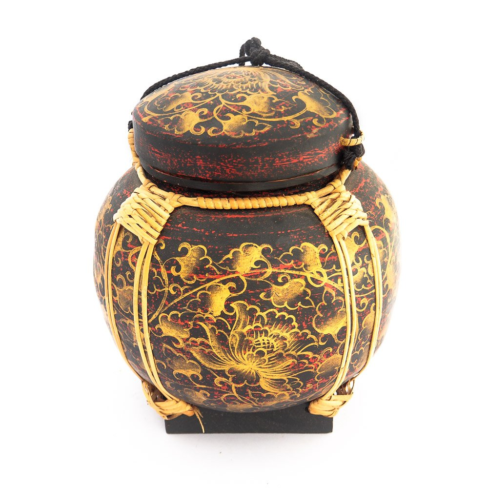 Siam Sawadee Rice Container Or Rice Basket Unique Decorative Accessory Made From Bamboo