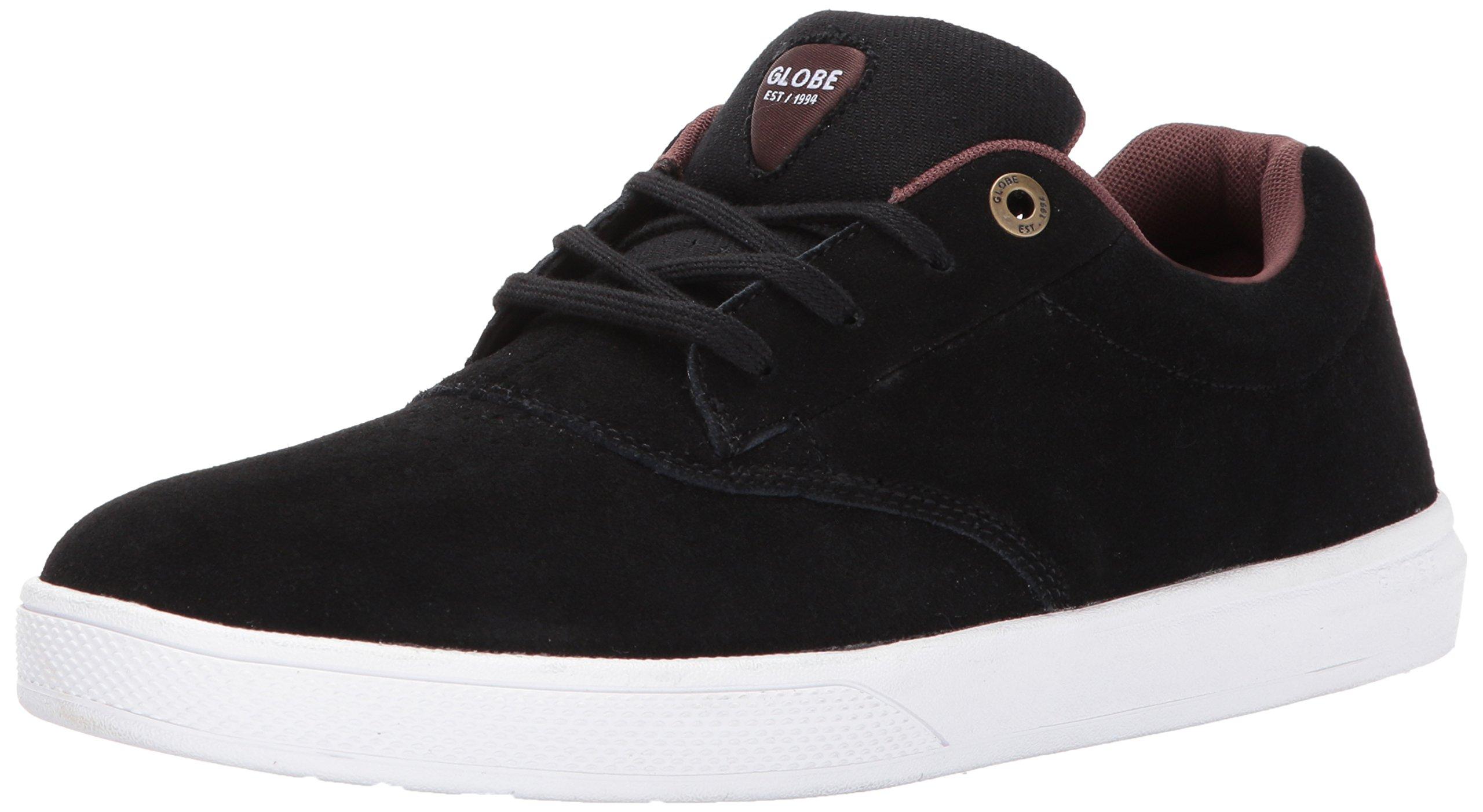 Globe Men's The Eagle SG Skate Shoe, Black/White/Tan, 9 Regular US