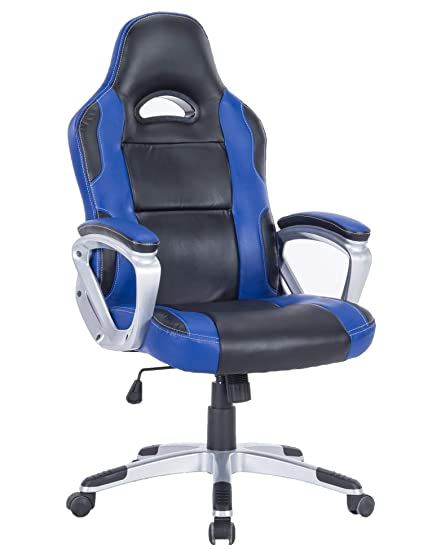 Pleasant Killbee Ergonomic Swivel Gaming Chair Large Size Pvc Leather Executive Office Chair With Headrest And Lumbar Support Blue 3 Pdpeps Interior Chair Design Pdpepsorg