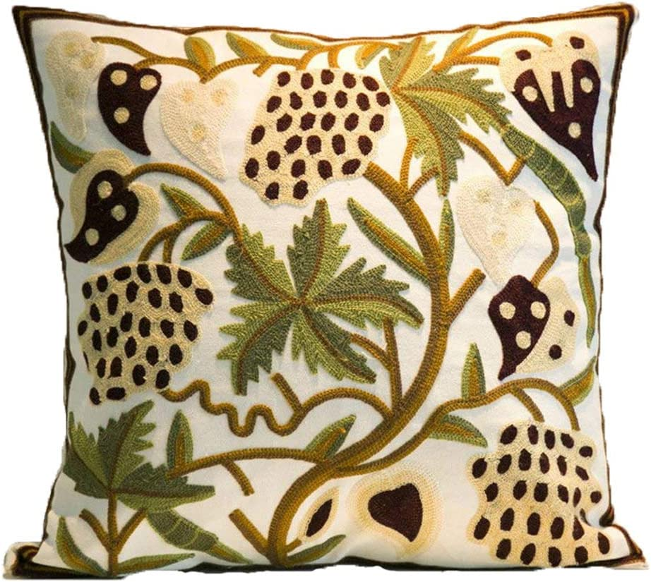 ZUODU Square Cushion Cover Hand Made National Embroidery Bohemian Housewarming Car Home Decoration Cushion Cover//Throw Pillow Cover Pattern-16