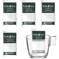 Nestle Carnation Hot Chocolate After Eight 25 Grams Pack of 5, Bundled with Stelna Clear Glass Mug, 8 oz