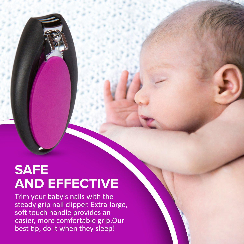 Juego de aseo para Bebés - Juego de 7 Piezas para cuidado de recién nacidos - Artículos de aseo en Negro y Violeta: Amazon.es: Bebé