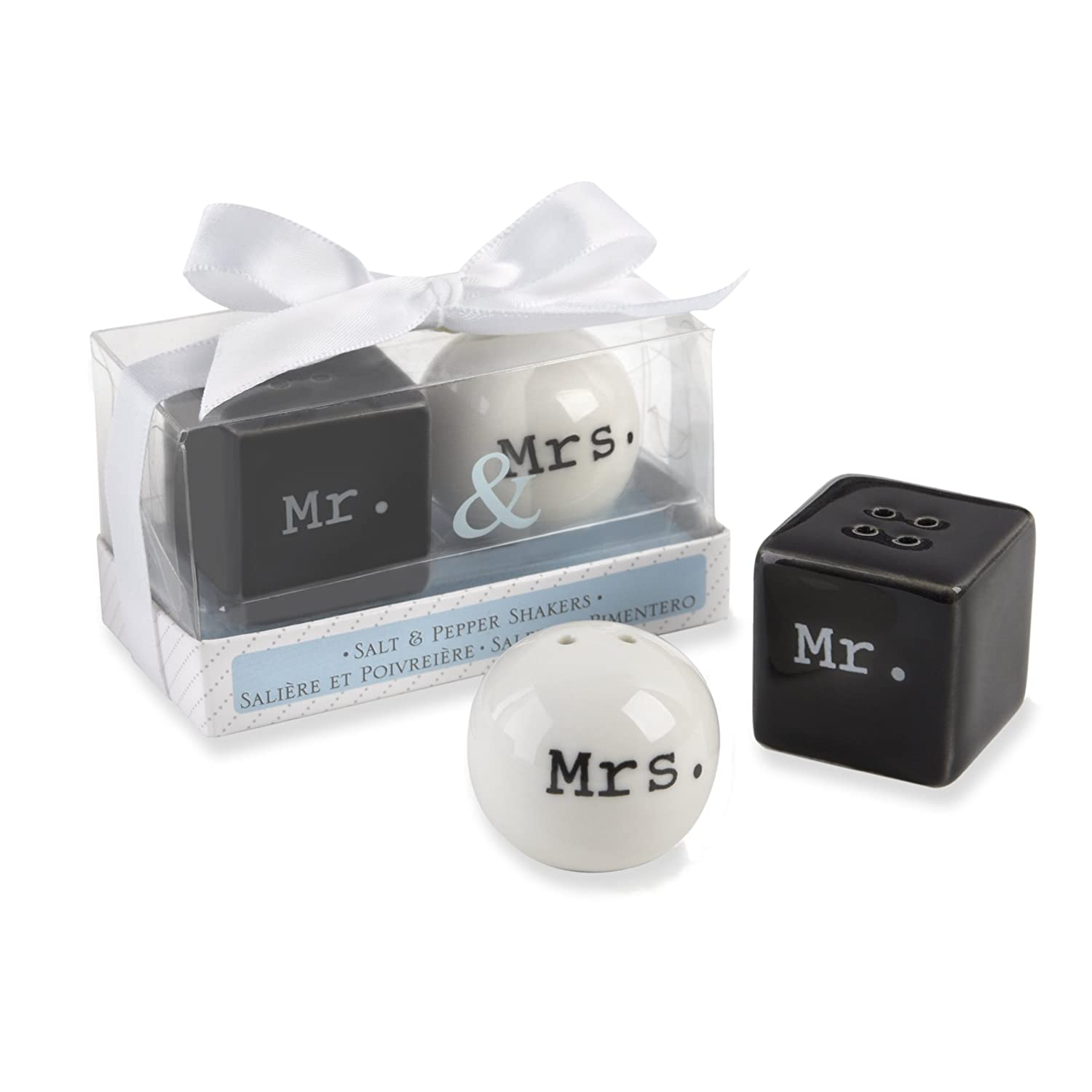 "Amazon Kate Aspen ""Mr and Mrs "" Ceramic Salt and Pepper"