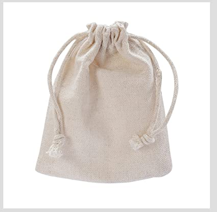 bd1057cab433 MIAOMIAO [set of 6] reusable cotton double drawstring Bags, Machine  Washable gift bags, Natural Linen Pouches for Gift Packaging, Perfect for  Birthday ...