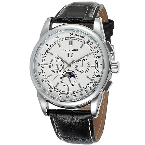forsining automático para hombre Fase de la luna reloj de muñeca fsg319 m3s5: Amazon.es: Relojes