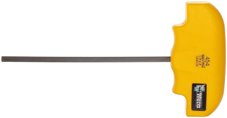 200mm Blade Length Wera 05344542002 Hex-Plus 454 Hex T-Handle Screwdriver 1//4-Inch Head