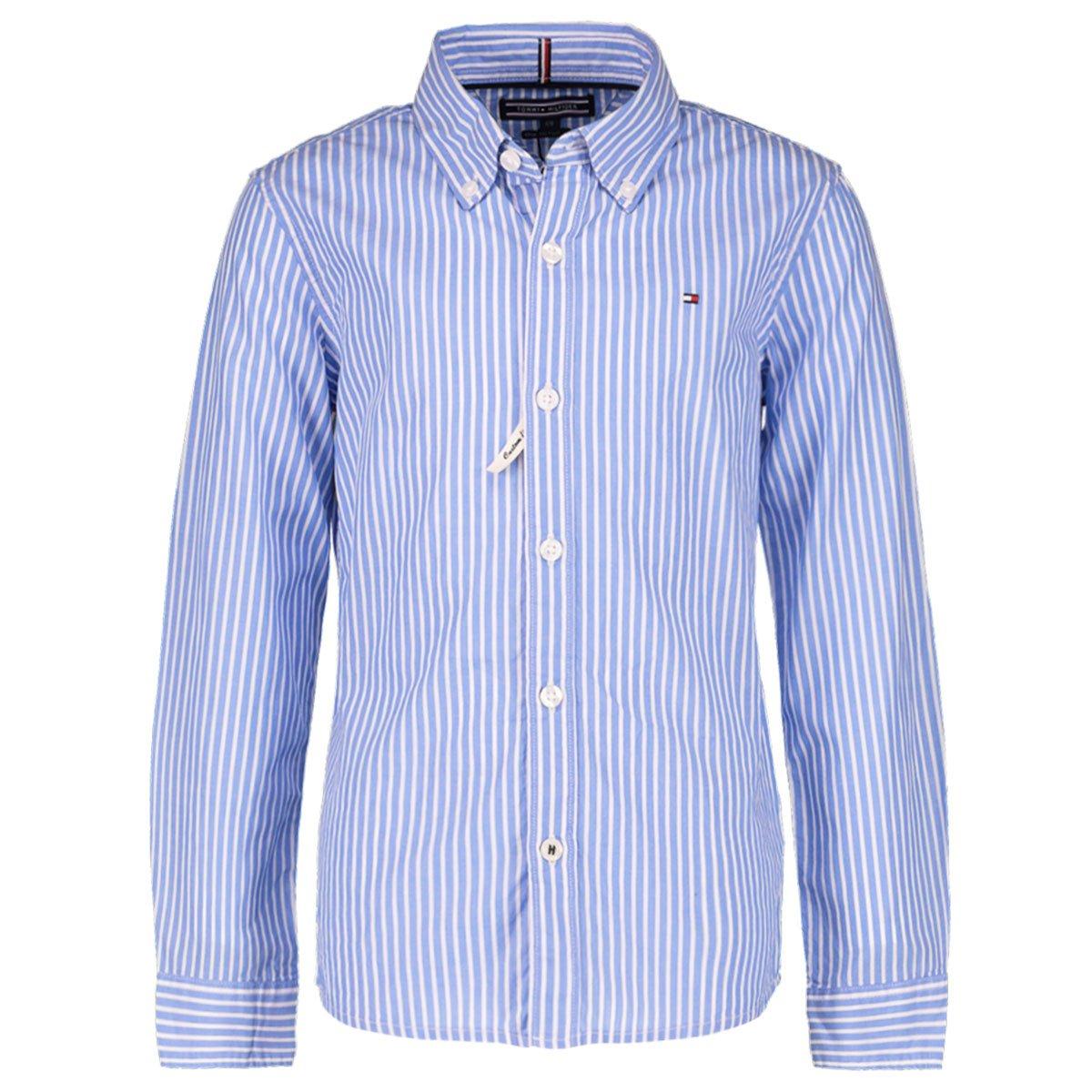 Tommy Hilfiger Jungen Hemd Boys Blue Stripe Langarm