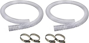 Sealproof 1.25 x 59 Inch Pool Filter Pump Connection Hose for 1-1/4 (32mm) Intex Systems and Above Ground Pools, Premium Quality Kinkproof PVC, Made in USA | Includes 4 Hose Clamps, 2-Pack