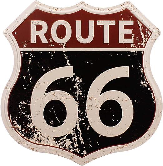 Amazon.com: Hantajanss Route 66 Signs Metal Vintage Cartel ...