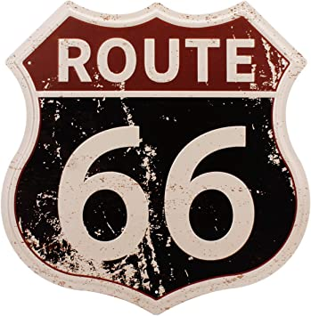 Amazon.com: HANTAJANSS Route 66 Signs Vintage Carteles para ...