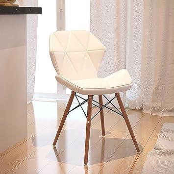Gut TangMengYun Massivholz Leder Stuhl Stuhl Computer Stuhl Konferenz Bank  Kleine Bank Modern Einfach Weiß 35 *