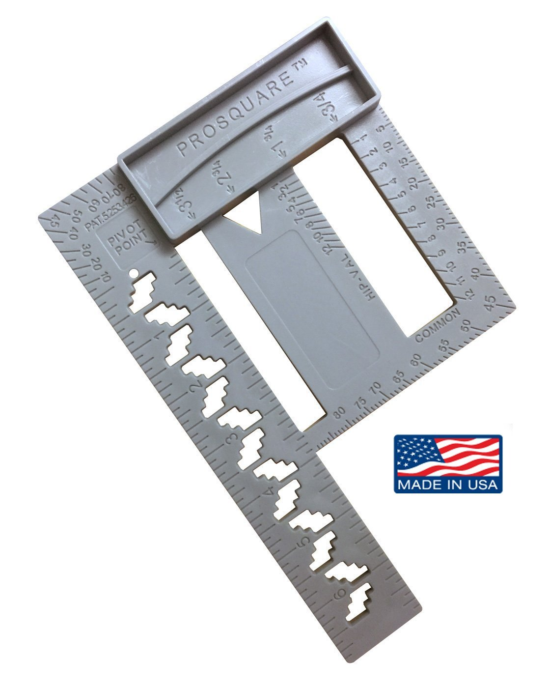 PRO SQUARE - Make layout smoother, cleaner and more accurate - Speed Square Combo, Framing, Compass, Plate/Wall Layout for professional contractors - Made in USA