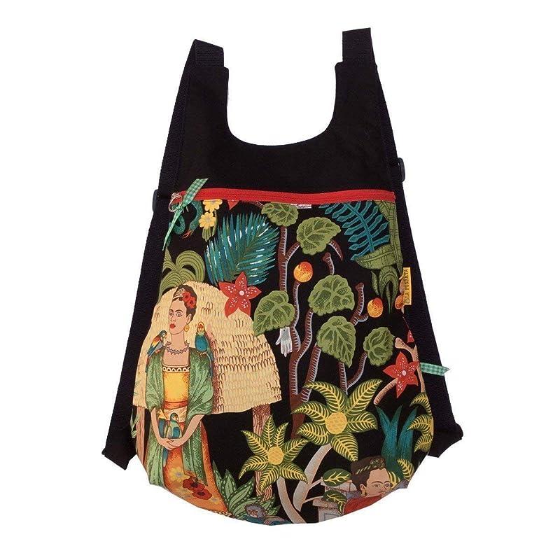 Mochila de tela Fridas Garden, Mochila Frida en el jardín, Mochila hecha a mano, Mochila original para mujer, Mochila de tela botánica, Mochila para ...