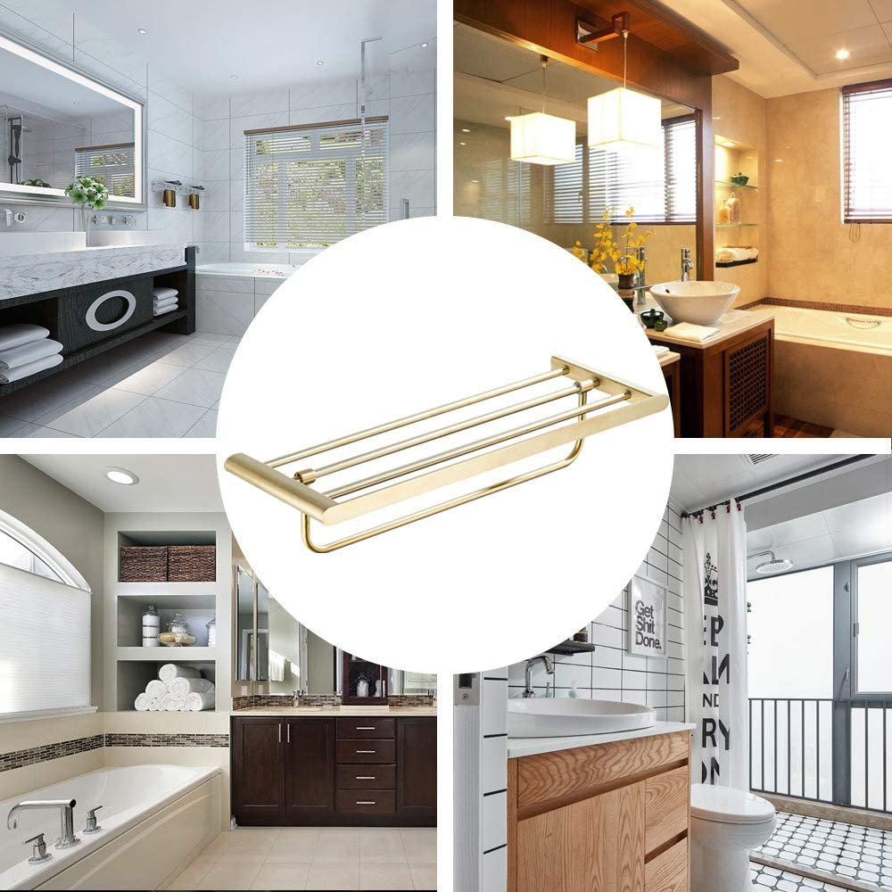 Clothes Hook of Solid Stainless Steel Wall Mounted for Bathroom Kitchen Brushed Gold finished Robe Hook WOMAO Single Towel Hook