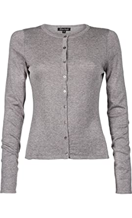 be2be10f027b King Louie Cardigan Col Rond Cocoon Light Grey Melange Gris  Amazon ...