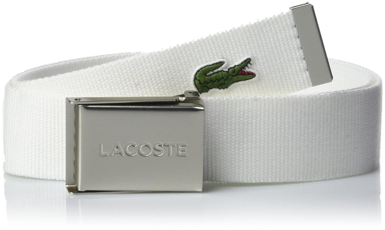 54c804e0b Lacoste Mens Webbed Belt - White  Amazon.com.au  Fashion