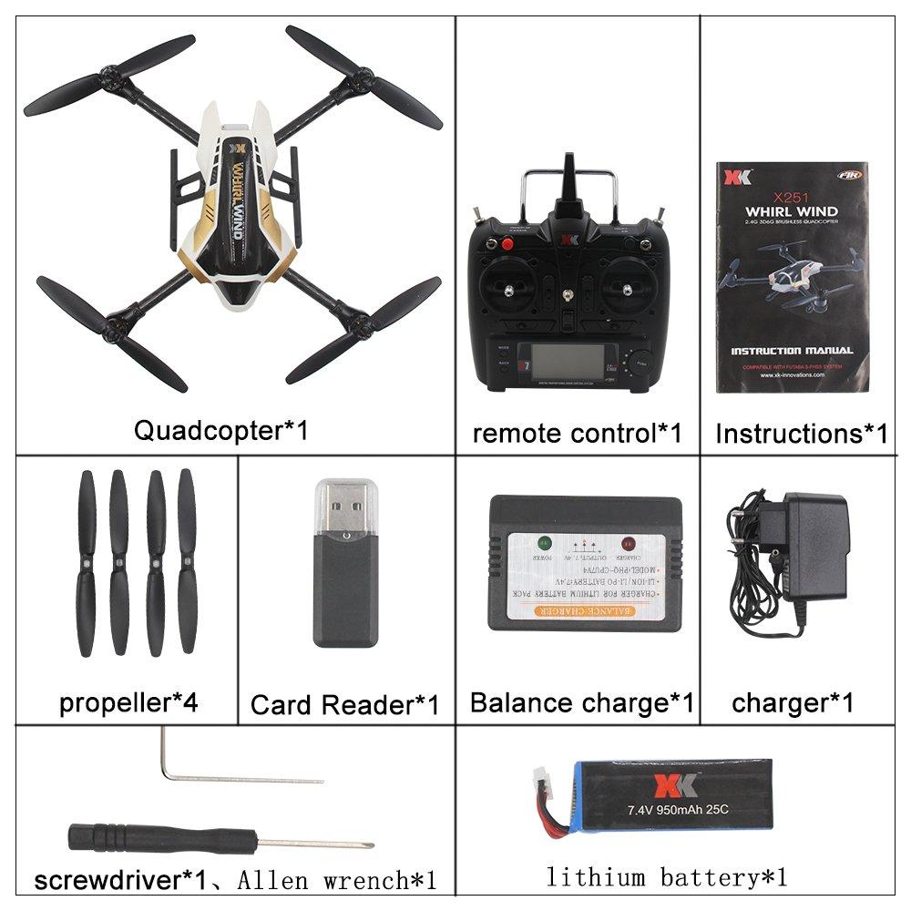 XK X251C 2.4G RC Quadcopter con 720P Cš¢mara RTF X7 Transmisor ...