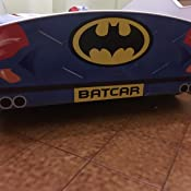 Lettino per bambini letto auto Batcar 160x80 con materasso