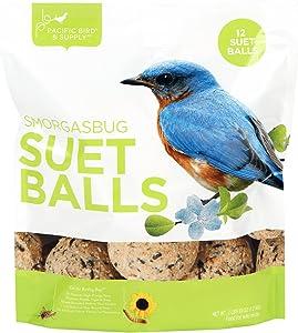 Pacific Bird & Supply Co Smorgasbug Suet Balls (12 Pack)
